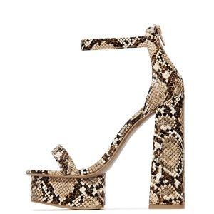Wild Diva Shoes - NEW🔥 Ankle Strap High Chunky Heel Platform sandal